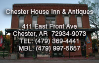 Haunted Bed and Breakfast in Chester, AR.
